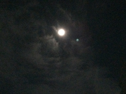 super moon by iPhone